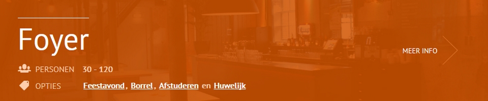 Feestlocatie - Foyer Scheltema Leiden