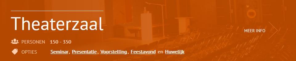 Feestlocatie Theaterzaal Scheltema Leiden