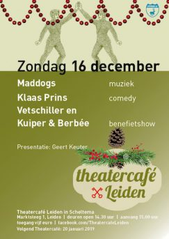 Flyer Theater Cafe Leiden zondag 16-12-18