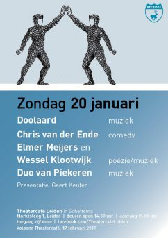 Flyer TheaterCafe Leiden januari 2019