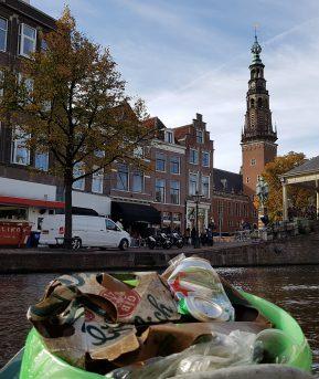 17 juni 2019 Groene Ideecafé in Scheltema Leiden - Plastic in de Leidse grachten