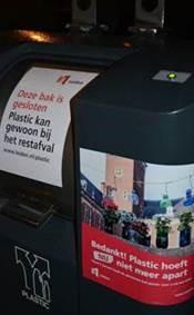 Plastic kan gewoon weer bij het restafval in Leiden