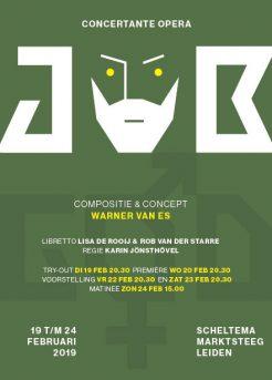 Voorkant flyer Opera Job in Scheltema Leiden