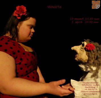 Violetta gespeeld door theatergroep Domino