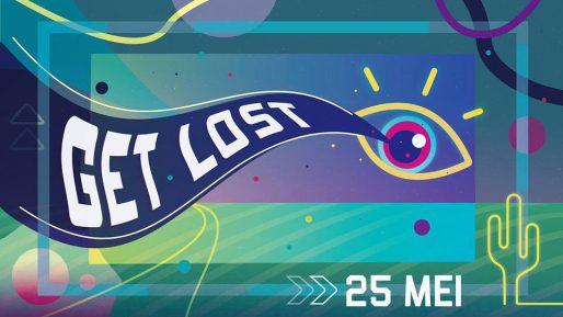 Campagne beeld van Get Lost Festival 2019 in de Marksteeg Leiden
