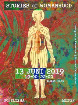 poster stories of womanhood in Scheltema Leiden op 13 juni 2019