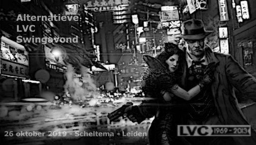Flyer alternatieve LVC Swingavond op 26 oktober 2019 in Scheltema Leiden