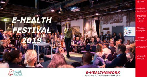 e-health festival 2019 in Scheltema Leiden
