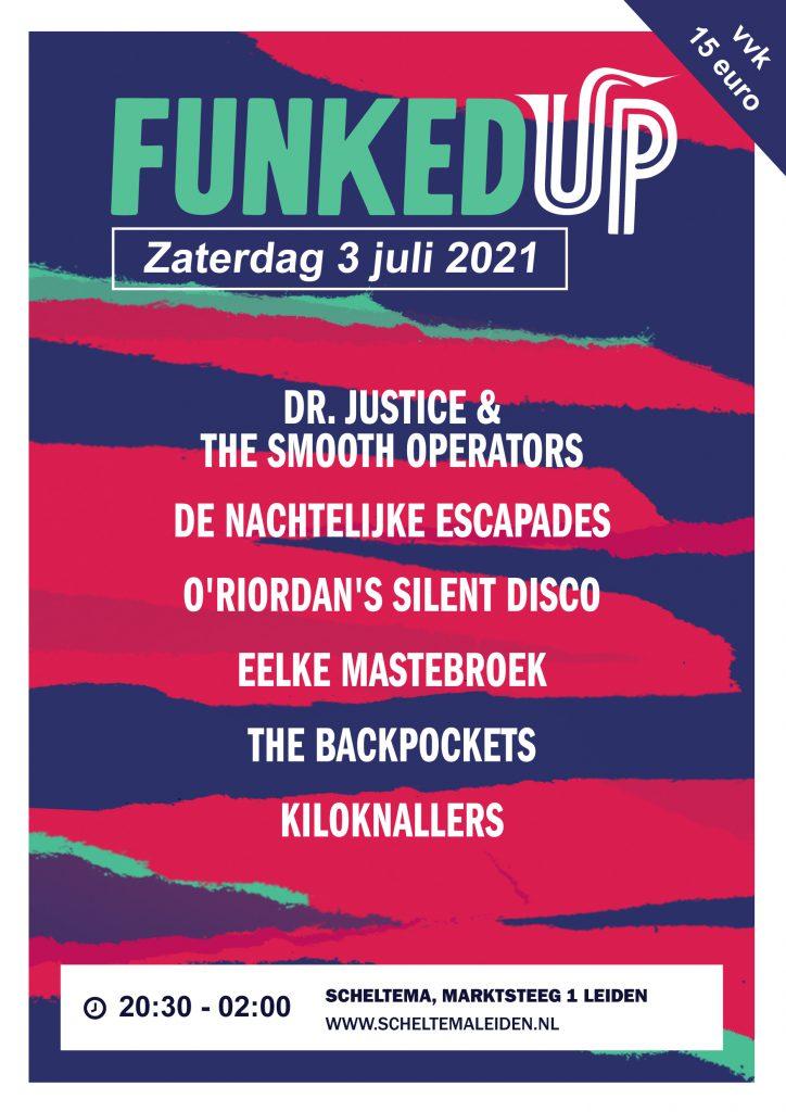 Affiche Funked Up op zaterdag 3 juli in Scheltema Leiden