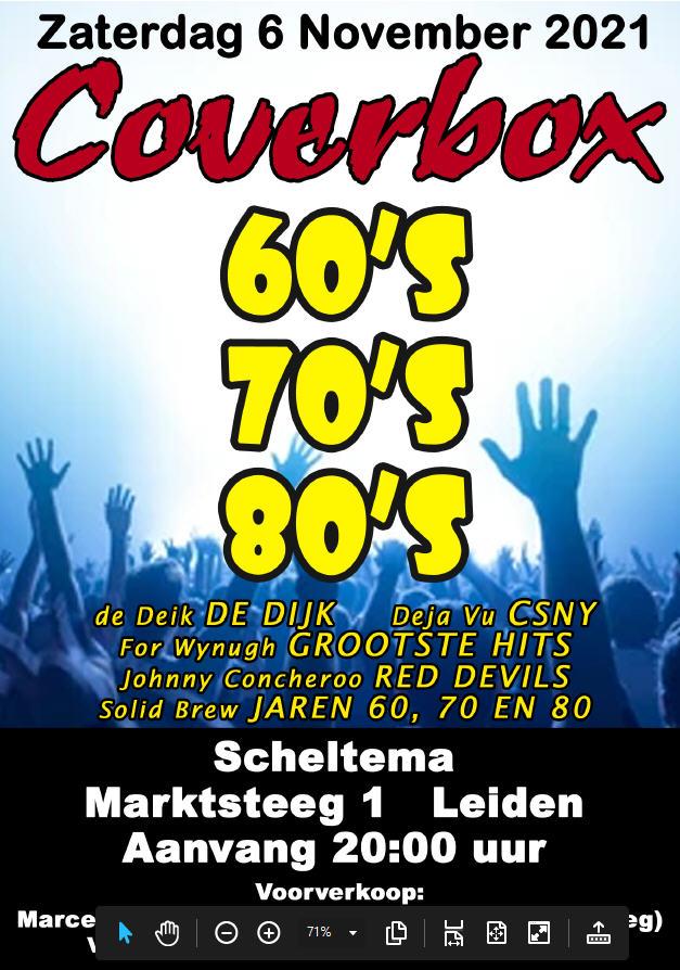 Poster Coverbox op zaterdag 6 november 2021 in Scheltema Leiden