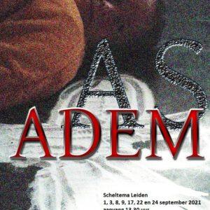 As & Adem affiche van Theatergroep Domino in Scheltema Leiden in september