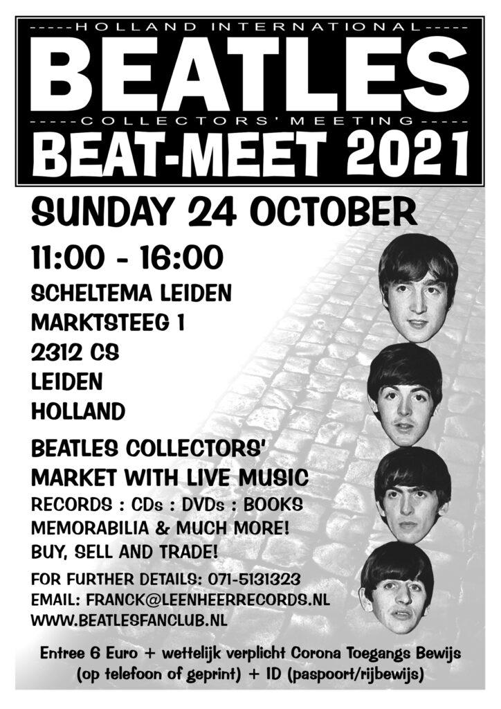 BEAT MEET 2021 (Beatles Beurs) op 24-10-2021 in Scheltema Leiden